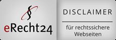 Disclaimer nach eRecht24