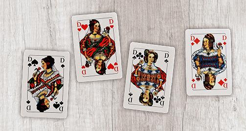 Skatkarten Dame