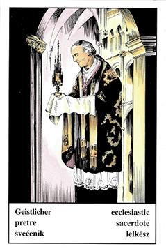 """Motiv der Zigeunerkarte """"Geistlicher"""""""