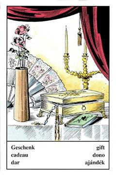 """Motiv der Zigeunerkarte """"Geschenk"""""""