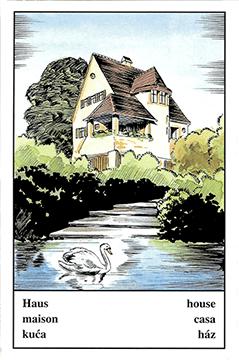 """Motiv der Zigeunerkarte """"Haus"""""""