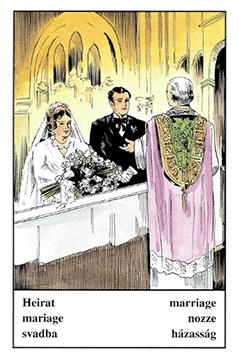 """Motiv der Zigeunerkarte """"Heirat"""""""