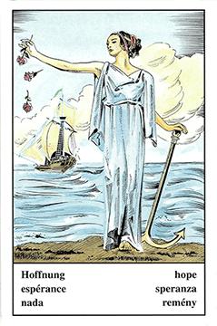 """Motiv der Zigeunerkarte """"Hoffnung"""""""