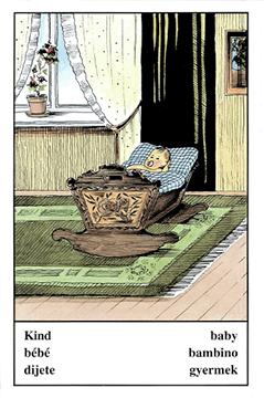 """Motiv der Zigeunerkarte """"Kind"""""""