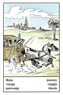 """Motiv der Zigeunerkarte """"Reise"""""""