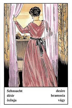 """Motiv der Zigeunerkarte """"Sehnsucht"""""""