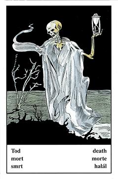 """Motiv der Zigeunerkarte """"Tod"""""""